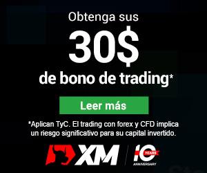 XM Obtenga sus 30$ de bono de trading